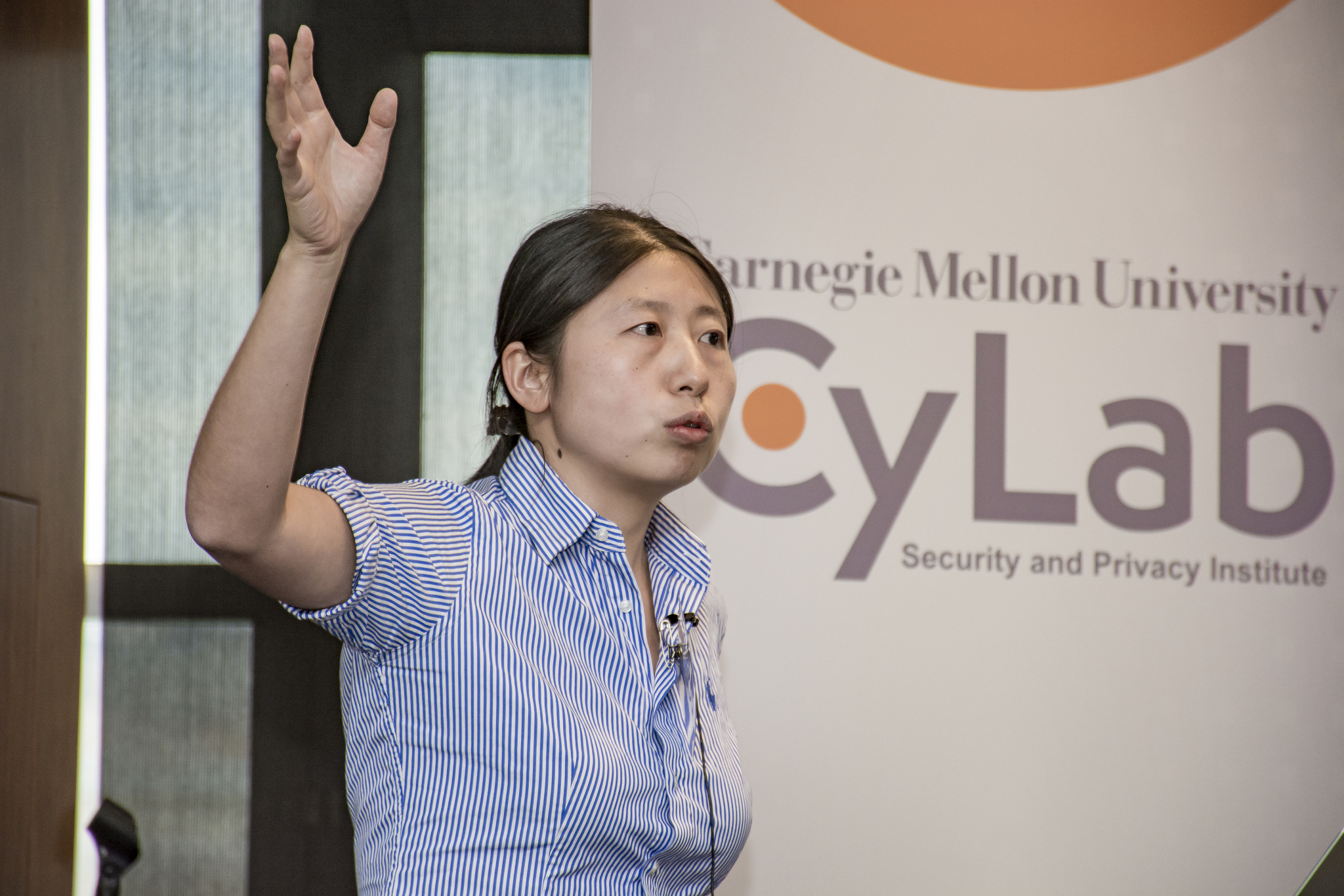 CyLab's Limin Jia presents her research at the 2016 CyLab Partners Conference